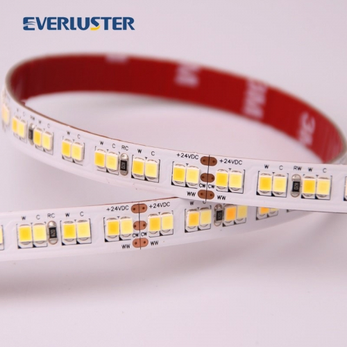 2700-4000K 2700-6000K 24V 2835 led strip 224leds 30watt cct controllable 2835 strip.