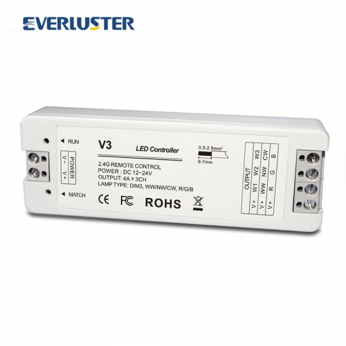 V3 3 Channel RF controller for RGB